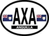 Anguilla oval decal for auto, truck or boat
