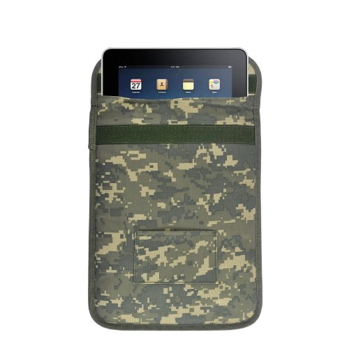 Tekit® D100 Army Camouflage Protective Anti-radiation Anti-tracking Anti-spying GPS Rfid Signal Blocking Pouch Case Bag for 7-10 Inches Tablets