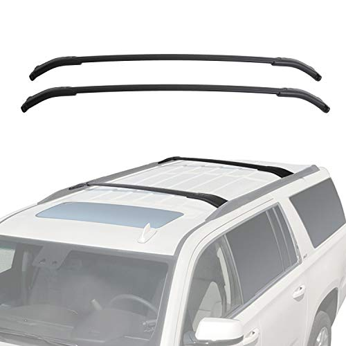 ECOTRIC Roof Rack Cross Bars Luggage Cargo Ladder Crossbars Bike Load Roof Cross Rail for 2015-2019 Chevy Tahoe Suburban Escalade GMC Yukon (Suburban Chevy Cross)
