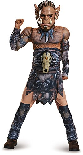 Durotan Classic Muscle Warcraft Legendary Costume, Large/10-12 ()