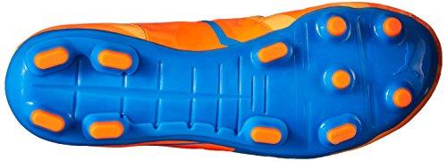 Zapato Puma Evopower 3 H2H Fg Jr fútbol Orange Clown Fish/Electric Blue Lemonade