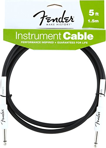- Fender Performance Series Instrument Cables (Straight-Straight Angle) for electric guitar, bass guitar, electric mandolin, pro audio