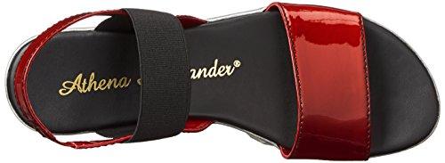 Athena Alexander Vrouwen Zonneschijn Jurk Sandaal Rood Patent