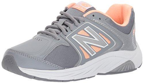 New Balance Women's 847V3 Walking Shoe, Grey/Pink, 8.5 D US