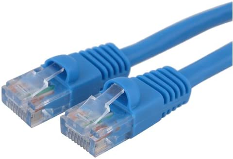 Fasmodel LAN hardware 100 Base-T YOC- Ethernet Cable CAT5e 100 ft White EIA568 Patch Cable RJ45 // RJ45 100 White for 10 Base-T