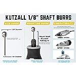 Kutzall Original Sphere Rotary Burr 1⁄8″ Shaft, Coarse – Woodworking Attachment for Dremel, Foredom, DeWalt, Milwaukee Tools. Abrasive Tungsten Carbide Coating, 3⁄8″ (9.5mm) Head Diameter, S-38-E