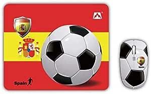 جيشن JT-NMS028 لوحة فأرة لاسلكي متوافقة مع بي سي - علم إسبانيا