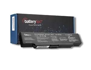 Batterytec® Batería para SONY VAIO VGN-AR, VAIO VGN-NR, VAIO VGN-SZ Series,Compatible Part Numbers: VGP-BPS10, VGP-BPS9/B, VGP-BPS9A/B, VGP-BPS9B Sony VGP-BPS9 VGP-BPS9A VGP-BPS9/B VGP-BPS9A/B VGN-AR95US VGN-NR32M/S VGN-NR32S/S. [10.8V 4400mAh 12 meses de garantía]