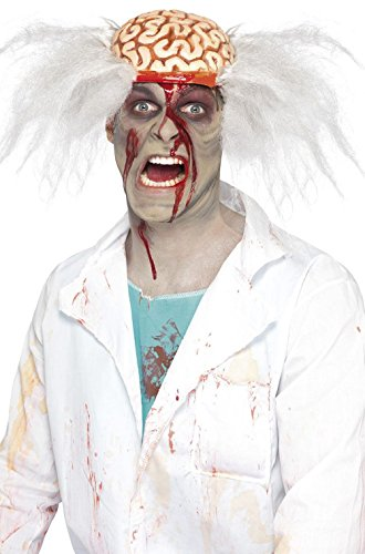Zombie Scalped Scientist Costume Wig