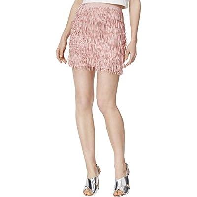 Mare Mare Womens Bran Layered Fringe Mini Skirt