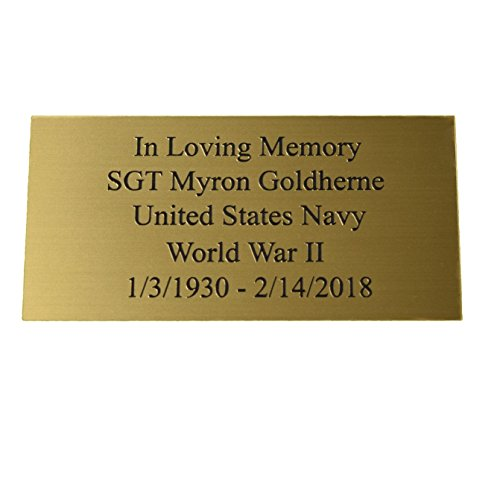 Custom Engraved Personalized Name Plates with Five Lines of Text