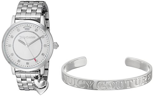 - Juicy Couture Women's Quartz Stainless Steel Casual Watch, Color:Silver-Toned (Model: 1950010)