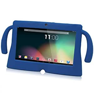TabSuit 7'' BLUE Silicone Rubber Gel Soft Skin Case Cover case for 7'' Dragon Touch Dual Core Y88 Tablet [by BGmobile] (Blue)