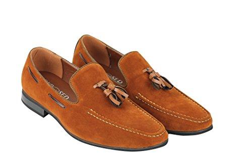 Casual De Formal Piel Hombre Sintético Canela Borla On Conducción Ante Zapatos Slip Xposed Smart Aqw08n