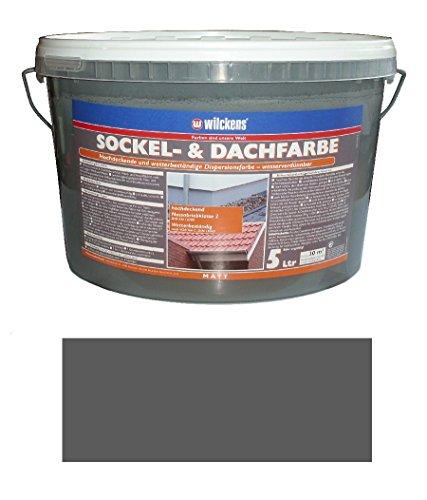 Wilckens 5 L. Sockel- & Dachfarbe, Schiefer Matt, hochdeckende, wetterbeständige Dispersionsfarbe, wasserverdünnbar