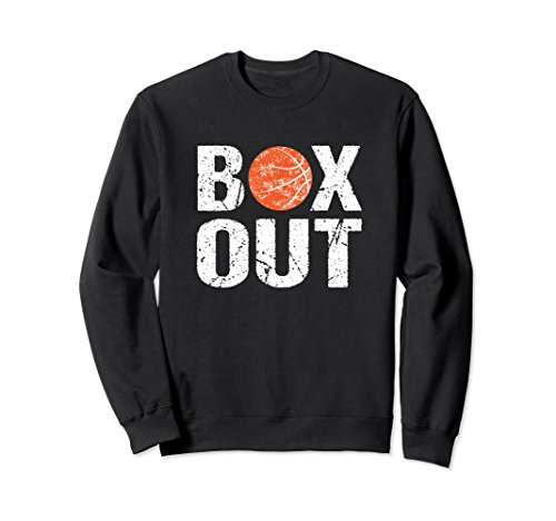 Unisex Funny Basketball Coach Sweatshirt Box Out Saying Gift XL: Black