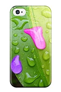 Protection Case For Iphone 4/4s / Case Cover For Iphone(bright Colored Raindrops )