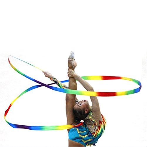 Pinzhi Cinta de baile Gym arte gimnasia rítmica girando con varilla varita