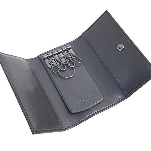 82c1fc1ce92c Amazon | コーチ COACH 小物 キーホルダー メンズ アウトレット PVCコーティングキャンバス×レザー シグネチャー キーケース 5連  F26104 CQBK ブラック コーチ COACH ...