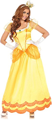Leg Avenue Women's Yellow Sunflower Princess Costume, Orange, Large