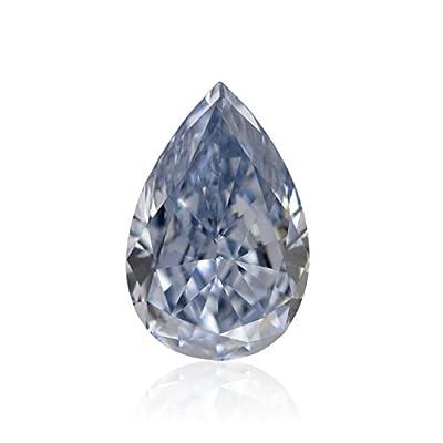 0.58 Carat Fancy Intense Blue Loose Diamond Natural Color Pear Shape GIA Cert