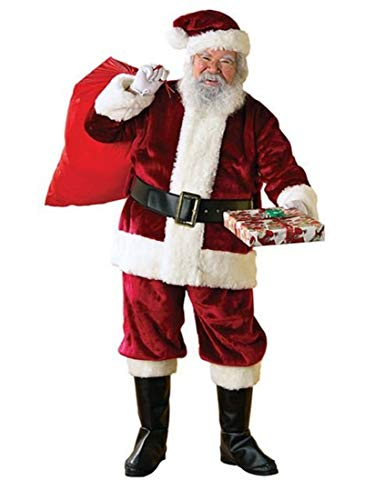 Crimson Regency Santa Claus Suit - Christmas Costume - Size XL (Regency Santa Suit)