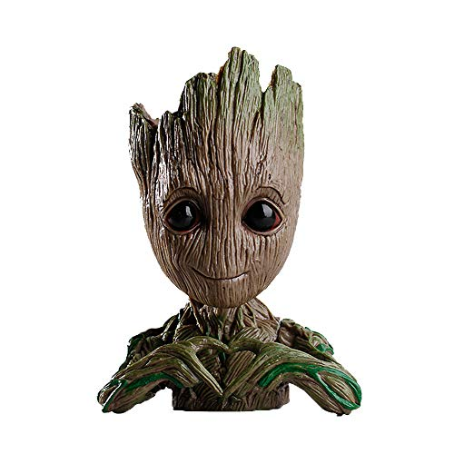 Flowerpot Treeman,Baby Groot Planter,Cute Green Plants Flower Pot,Pen Holder,Pencil Holder,Office Organizer,Guardians of The Galaxy Groot Pen Pot ()