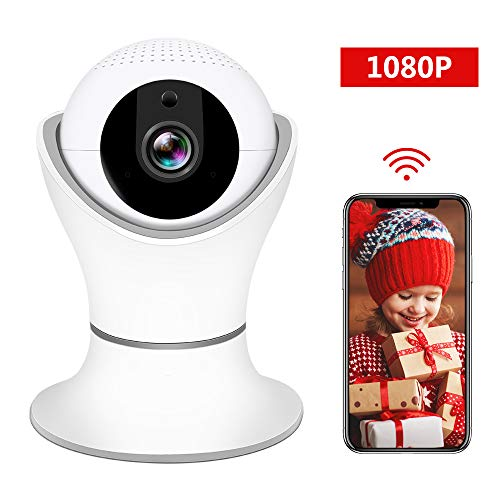 HD 1080P Wireless IP Camera, WiFi Home Security Surveillance IP Camera with 3D Navigation Panorama for Elder/Pet/Office/Baby Monitor, Nanny Cam with PTZ Two Way Audio Motion Detection Night Vision ()