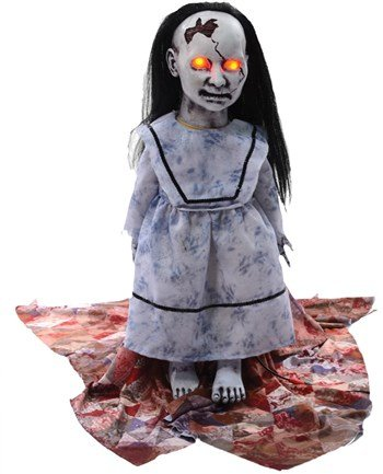 [LUNGING GRAVEYARD BABY HALLOWEEN PROP Haunted House Decor Scary Theme Party - MR124277] (Haunted House Prop)