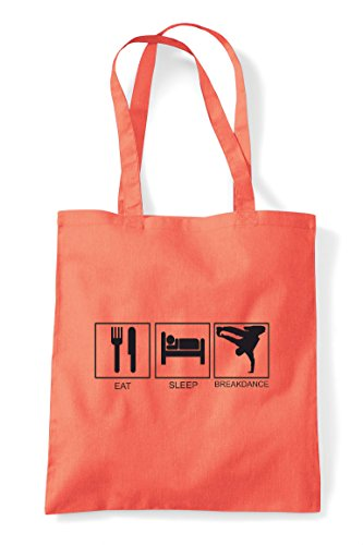 Coral Shopper Eat Tote Sleep Breakdance Bag PwcaSzq