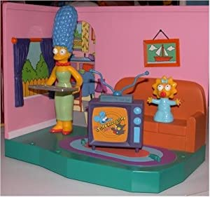 The simpsons living room playset with exclusive marge maggie toys games for Simpsons living room picture