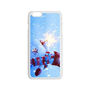 Snowman And Firework Hight Quality Plastic Case for Iphone 6