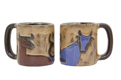 One (1) MARA STONEWARE COLLECTION - 16 Oz Coffee Cup Collectible Dinner Mug - Zodiac Sign - Taurus The Bull Design