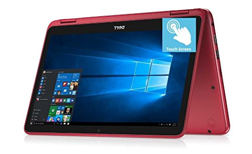2018 Flagship Dell Inspiron 11.6″ 2-in-1 HD Touchscreen Convertible Business Laptop/Tablet – Intel Quad-Core Pentium N3710 8GB DDR3 128GB SSD WLAN Bluetooth HDMI Webcam MaxxAudio USB 3.0 Win 10 -Red