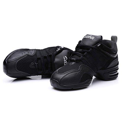 Chaussures Modèle Modernes Sneaker De K b55 Femme Aptitude Jazz Danse Hroyl Noir Sport RzqWAIgzX