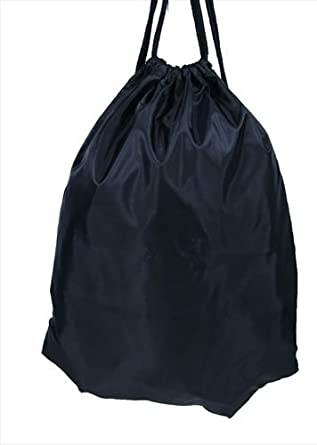Plain Black Drawstring Gym Swim Wet Kit Bag Gymsac: Amazon.co.uk ...