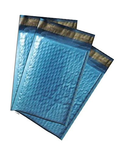 50 -4x8'' Metallic Blue Bubble Mailers by wrappingmeup