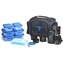 ThinkFit Insulated Lunch Boxes with 6 Portion Control Containers, Reusable Ice Pack, Pill Box,...