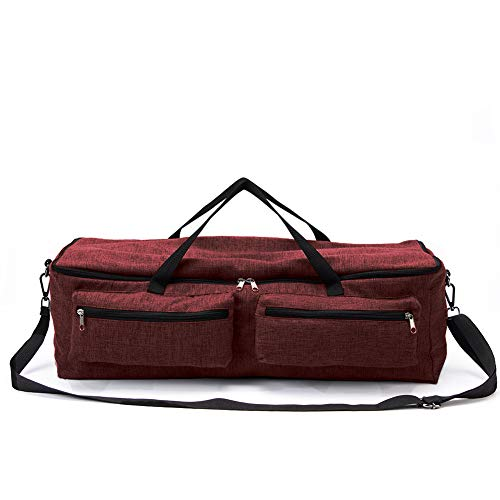 (Cricuit Storage Bag,Carrying Case Compatible with Cricuit Explore Air and Maker,Cricuit Tool Kit Tote Bag,Sewing Machine Specific Bag,Cricut Maker,Silhouette Cameo Travel Companion (Red Wine))