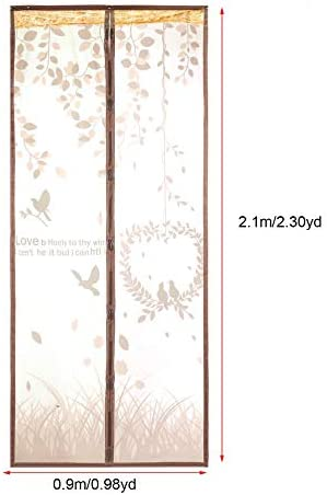 90x210cm Coffee Color Summer Magnetic Fly Bug Anti Insect Mosquito Screen Clear Mesh Self-Closed Soft Yarn Door Tulle Door Curtain Convenient