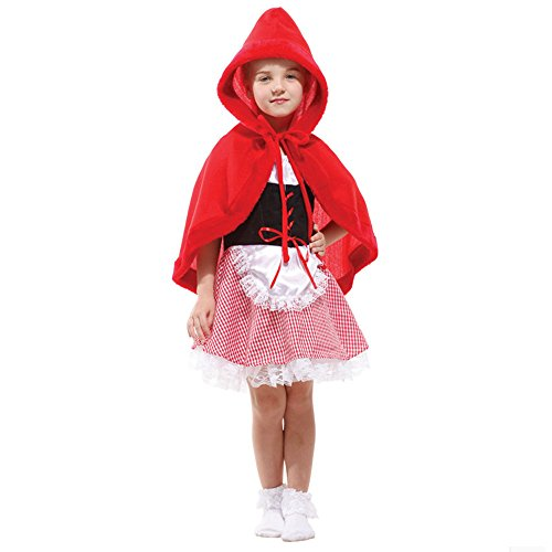 Girls Little Red Riding Hood Halloween Child Role Play Cosplay Dress Up Costume Sets -