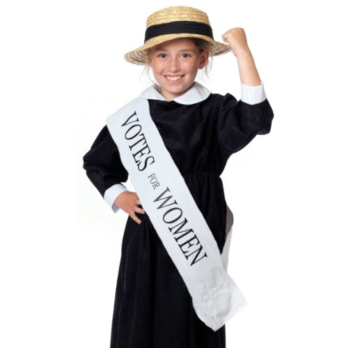 Charlie Crow Votes for Women Suffragette sash/Banner for Kids one Size fits All 3+ Years White -