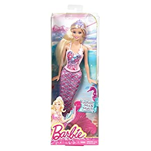 Barbie Fairytale Magic Mermaid Doll, Pink