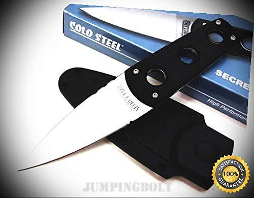 (Black G-10 Secret Edge Neck Knife with Sheath 11SDT - Premium Quality Very Sharp EMT EDC)