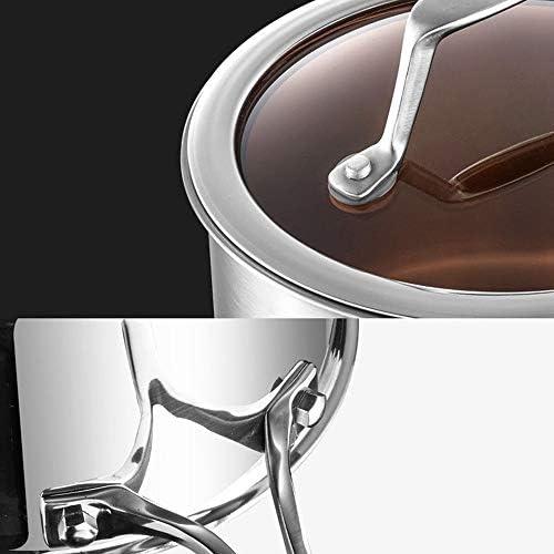 WavEco Casserole à lait en acier inoxydable 304 épaississant profondément pour cuisinière à gaz à induction, antiadhésif, fond plat