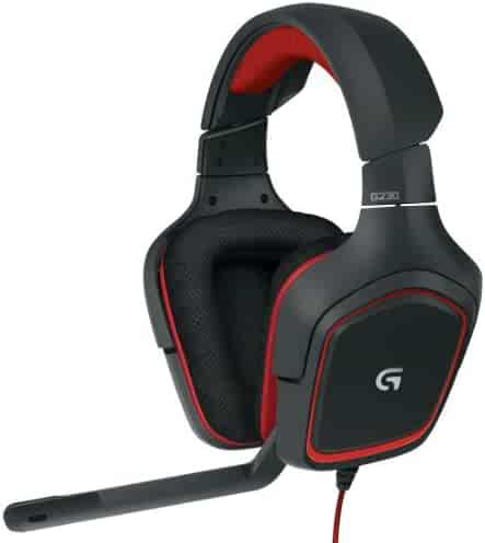 Logitech G230 Stereo Gaming Headset – On-Cable Controls – Surround Sound Audio – Sports-Performance Ear Pads – Rotating Ear Cups – Light Weight Design