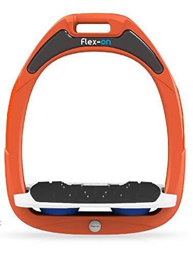 【 限定】フレクソン(Flex-On) 鐙 ガンマセーフオン GAMME SAFE-ON Mixed ultra-grip フレームカラー: オレンジ フットベッドカラー: ホワイト エラストマー: ブルー 09006   B07KMNR9MZ