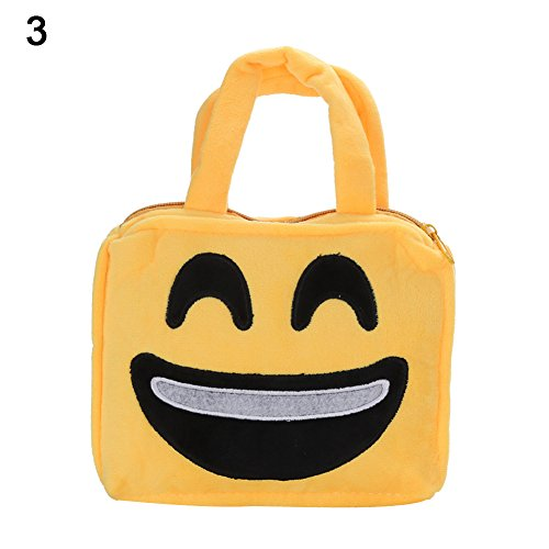 Brave669 Unisex Cute Emoji Face Expression Kids Child Plush Tote Bag Handbag Schoolbag ()