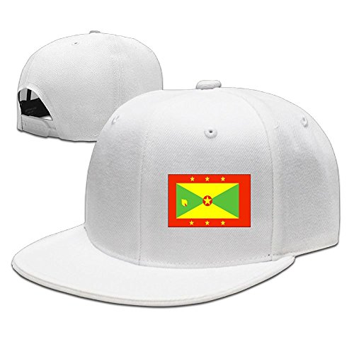 COJOP Baseball Cap Grenada Flag Hip-Hop Flat Edge Cap Sunhat Fashion Leisure Hat With adjustment Buckle For Men