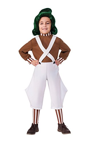 Rubie's Costume Kids Willy Wonka & The Chocolate Factory Oompa Loompa Value Costume, (Oompa Loompa Willy Wonka Costume)